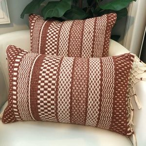 "Two ""Mikey"" pillows by Magnolia Market"